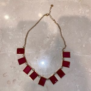 Vintage red square stone loft necklace